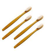 Eco-Friendly Natural Bamboo Toothbrush White 4-Pack - Organic, Whitening - $6.99