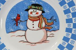 "GEI Snowman Xmas Dinner Plates 10.5"" Set of 4 image 3"