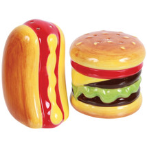 Colorful Summer Hot Dog & Hamburger Shaped Cera... - $12.98
