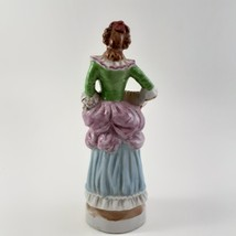 Figurine of Victorian Woman Playing Squeeze Box Ceramic Porcelain Occupied Japan image 3