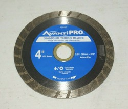 """Avanti Pro 4"""" Turbo Diamond Circular Saw Blade Dry Wet ConcreteUSED - $10.88"""