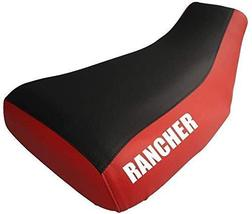 Honda Rancher 350 Seat Cover Black And Red Rancher Logo Year 2001 To 2006 - $44.99