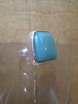 Turquoise Ring Sterling Silver Trapezoid Danish Modernist Christoffersen... - $247.78