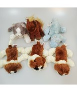 Lot of 6 Ganz Webkinz Lil'Kinz St. Bernards, Hippo, Grey/White Cat, and ... - $24.70