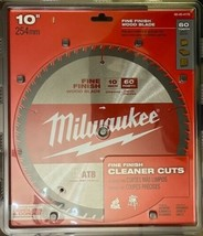 "Milwaukee 48-40-4176 10"" x 60T Fine Finish Wood Cutting Circular Saw Blade - $21.78"