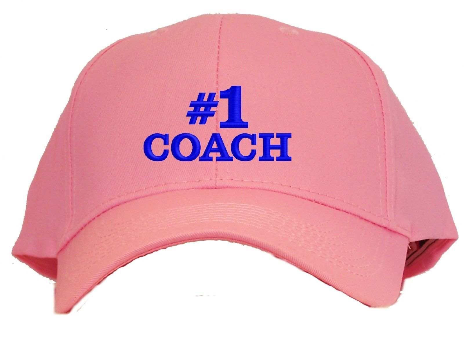 #1 Coach Embroidered Baseball Cap - Available in 7 Colors - Hat
