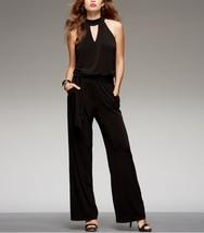 INC International Concepts Jumpsuit Woman Sz 3X Black Jersey Cocktail Ev... - $59.35