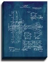 Aeroplane Patent Print Midnight Blue on Canvas - $39.95+