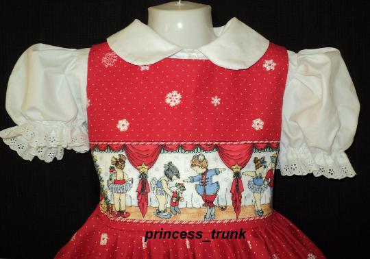 NEW Handmade Daisy Kingdom Tis the Season Christmas Dress Custom Size 12M-14Yrs