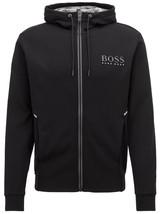 Hugo Boss Men's Reflective Logo Zip Sweatshirt Hoodie Jacket Saggy 50399379
