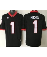 Men s sony michel jersey  1 georgia bulldogs stitched football red thumbtall