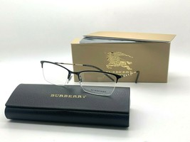 BURBERRY B 1278 1001 BLACK EYEGLASSES FRAME 53-17-140MM NIB ITALY - $106.47
