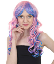 Rave Candy Purple & Blue Adult's Wig HW-081 - £19.27 GBP+