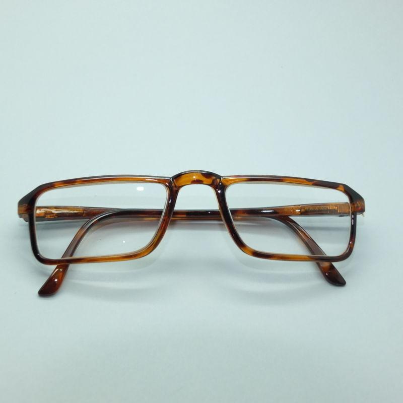 Metro Rectangle Frame Tortoise Brown Wide Reading Glasses +1.75