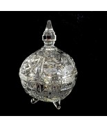 Glass Candy Dish Covered Glass Footed Candy Dish - $24.99
