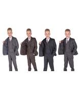 Cinda Grey 5 Piece Boy Suits Boys Wedding Suit Page Boy Party Prom 2-12 ... - $23.07+