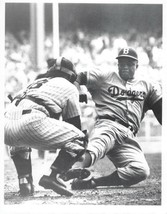 JACKIE ROBINSON 8X10 PHOTO BROOKLYN DODGERS BASEBALL PICTURE SLIDING HOME - $3.95