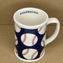 Starbucks Coffee Tea Cup Mug Baseball 2007 16 oz. Baseballs Blue Red Whi... - $11.83