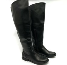 Shoe Dazzle Faux Leather Boots Over the Knee Size 8 Wide Mallory Inside Zip - $39.99