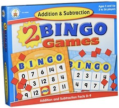 Addition and Subtraction Bingo Board Games Carson-Dellosa 140038 Ages 7 ... - $15.95