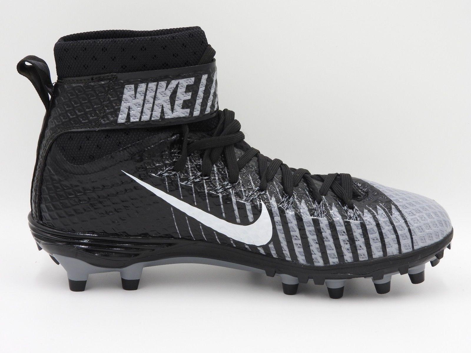 newest 9bfa1 b4823 Nike Force Lunarbeast Elite TD Football Cleats 779422-010,Gray Black,Men s  11