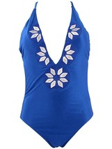 Embroidered Swimsuit Bathing Suit Bikini,MEDIUM ,Siamese Blue - $13.58