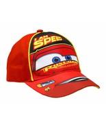 Disney Boys Cars Lightning McQueen Cotton Baseball Cap Red 2-4T - $14.10