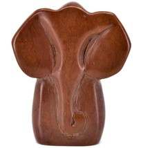 Hand Carved Gusii Soapstone Dark Brown Elegant Elephant Figurine Made in Kenya image 1