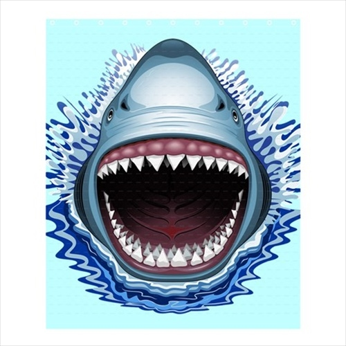 af53c96477 Shower curtain shark jaws megalodon spa cute and 50 similar items