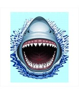 Shower curtain shark jaws megalodon spa cute bath curtains - $39.00+