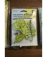 Inkadinkado Inkadinkaclings Rubber Cling Stamps - LEAVES - $9.89