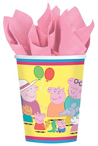 amscan Peppa Pig 9 oz. Paper Cups - 8 Count