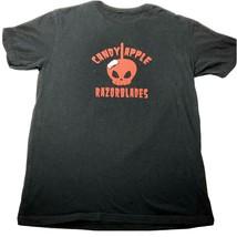 Candy Apple Razorblades Graphic T-Shirt Large Unisex Adults Black - $27.09