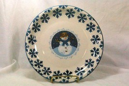 Tienshan FolkCraft Line Cameo Snowman Dinner Plate - $8.31