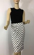 Ralph Lauren Black Label Skirt Size 8 Black White Stripe New - $192.98