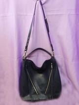 Rebecca Minkoff Designer Blue Pebble Leather Moto Hobo Bag - $157.00