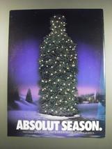 1991 Absolut Vodka Ad - Absolut Season - $14.99