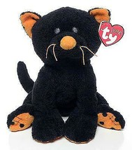 Trickery the Black Cat with Orange Paws Ty Pluffies MWMT Plush Baby Hall... - $25.69