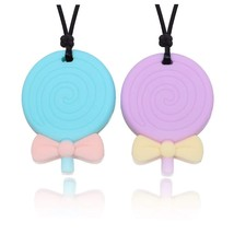 Maberry Baby Silicone Teething Necklace Soft Nursing Teether Toys for Au... - $18.29