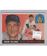 1955 Topps 173 Bob Kline Not Graded - $30.29