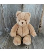 Vintage Teddy Bear Plush Gund Tan Brown Flocked Nose Sad Eyes Stuffed An... - £62.59 GBP