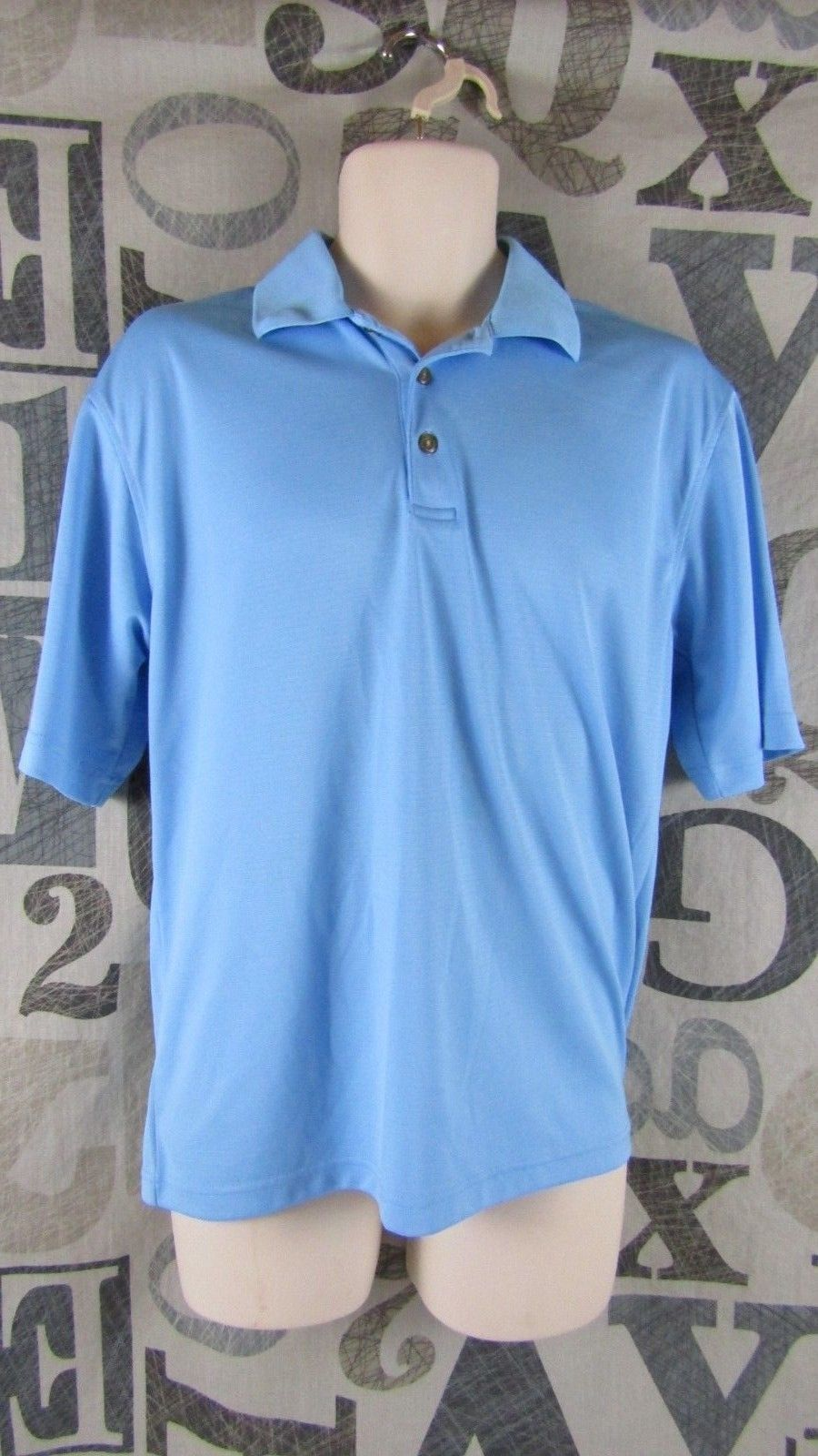 1aef29d77 Pebble Beach Performance Golf Polo Shirt Sky and 50 similar items