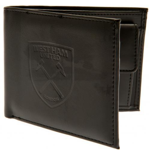 West Ham Football Club Official Leather Wallet Rfid Protection Team Crest #fba