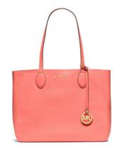 $298 Michael Kors MAE Grapefruit Gold Large EW Reversible Tote Bag Handb... - $157.08