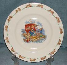 "Royal Doulton Bunnykins- 8"" Child Dinner Plate -Raft / Rafting Design SF111 -EUC image 6"