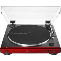 Audio Technica AT LP 60X Red Turntable Fully Automatic Stereo Record Player - image 1