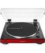 Audio Technica AT LP 60X Red Turntable Fully Automatic Stereo Record Pla... - $149.99