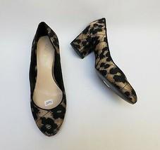 Nine West Womens Shoes Pumps Fabric Black Beige Ceciley Size US 8 M - $34.60