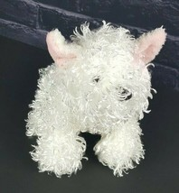 "Ganz Webkinz White Terrier Dog No Code Fluffy Pink Bow HM106 9"" Stuffed ... - $11.87"
