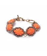Orange Flower Bracelet Women aliexpress Best Selling Fashion Vintage Bra... - $12.73